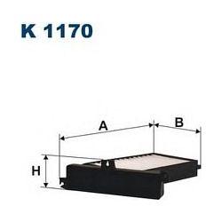 K 1170 F K1170 FILTR KABINOWY MITSUBISHI GALANT VI 2.0/2.4/2.5 99- FILTRY FILTRON [883256]...