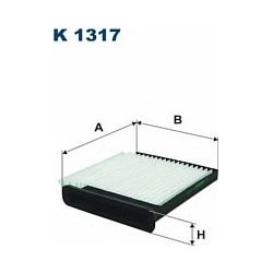 K 1317 F K1317 FILTR KABINOWY NISSAN NV200/TIDA 08 SZT FILTRY FILTRON [884117]...
