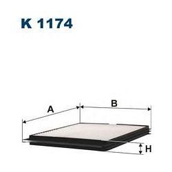 K 1174 F K1174 FILTR KABINOWY NISSAN MICRA II 1.0-1.5 92-03 FILTRY FILTRON [885243]...