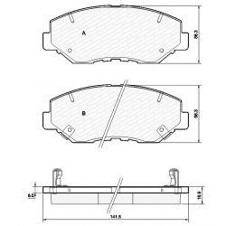 911681 FOM 911681 KLOCKI HAMULCOWE HONDA CIVIC CR-V FOMAR KPL FOMAR KLOCKI ZACHODNIE [886062]...