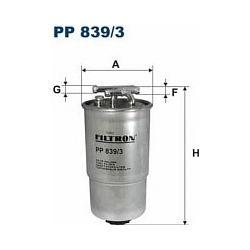 PP 839/3 F PP839/3 FILTR PALIWA VW NEW BEETLE 1.9 TDI ALH 98 SZT FILTRY FILTRON [889050]...