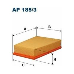 AP 185/3 F AP185/3 FILTR POWIETRZA RENAULT MEGANE II 02- SZT FILTRY FILTRON [890072]...