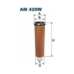 AM 420W F AM420W FILTR POWIETRZA WEW WKLAD FILTRA (BEZP) W AM 420 SZT FILTRY FILTRON [890220]...