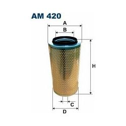 AM 420 F AM420 FILTR POWIETRZA MERCEDES 2028/2033LS IVECO 120/130 SZT FILTRY FILTRON [891078]...