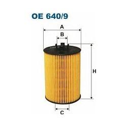 OE 640/9 F OE640/9 FILTR OLEJU MERCEDES A/B KLASA W169/W245 04 ; SZT FILTRY FILTRON [891156]...