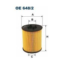 OE 648/2 F OE648/2 FILTR OLEJU OPEL ASTRA 1,8I 16V 98- SZT FILTRY FILTRON [891218]...