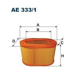 AE 333/1 F AE333/1 FILTR POWIETRZA MITSU GALANT 2,3-84 PAJERO 2,3D SZT FILTRY FILTRON [891306]...