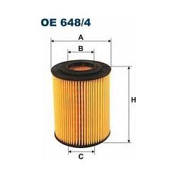 OE 648/4 F OE648/4 FILTR OLEJU OPEL ASTRA II 1.7TDI 16V (5) SZT FILTRY FILTRON [892034]...