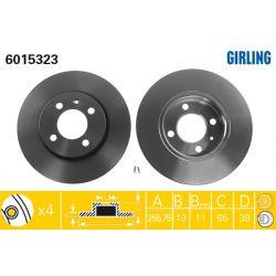 6015323 GIR 6015323 TARCZA HAMULCOWA 256X13 P 4-OTW VW GOLF III/PASSAT/VENTO 91-98 SZT GIRLING TARCZE GIRLING [892997]...