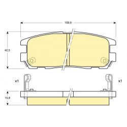 6111879 GIR 6111879 KLOCKI HAMULCOWE ISUZU TROOPER/ OPEL FRONTERA GR.15,8MM /TYL/* GIRLING KPL GIRLING KLOCKI GIRLING [893350]...