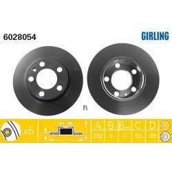6028054 GIR 6028054 TARCZA HAMULCOWA 232X9 P 5-OTW AUDI A3/SEAT LEON/SKODA OCTAVIA/VWGOLF SZT GIRLING TARCZE GIRLING [893412]...
