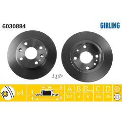 6030884 GIR 6030884 TARCZA HAMULCOWA 231X9 P 4-OTW MAZDA 323/MX5 89-97 SZT GIRLING TARCZE GIRLING [893420]...