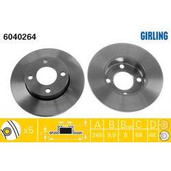 6040264 GIR 6040264 TARCZA HAMULCOWA 245X10 P 5-OTW AUDI A4 QUATTRO/VW PASSAT 4MOTION 96-05 SZT GIRLING TARCZE GIRLING [893466]...
