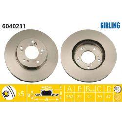 6040281 GIR 6040281 TARCZA HAMULCOWA 282X23 V 5-OTW HONDA CR-V/HR-V/LEGEND/PRELUDE 95-00 SZT GIRLING TARCZE GIRLING [893468]...