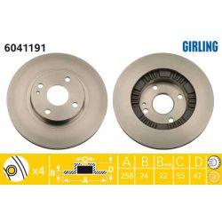 6041191 GIR 6041191 TARCZA HAMULCOWA 257X23 V 4-OTW MAZDA 323F BJ 98-04 SZT GIRLING TARCZE GIRLING [893568]...