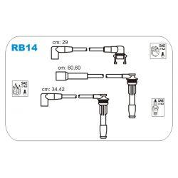 RB14 JAN RB14 PRZEWOD ZAPLONOWY RENAULT 19 I/II/CLIO 1.8 16V 89 - 96 KPL JANMOR PRZEWODY ZAPLONOWE JANMOR [860304]...