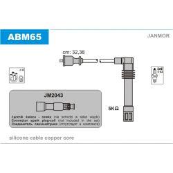 ABM65 JAN ABM65 PRZEWOD ZAPLONOWY AUDI A4 1.8 20V/ A6 1.8 20V/ VW GOLF IV/ PASSAT 20V KPL JANMOR PRZEWODY ZAPLONOWE JANMOR [862502]...