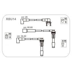 RBU14 JAN RBU14 PRZEWOD ZAPLONOWY RENAULT 19 I/II/CLIO 1.8 16V 89 - 96 KPL JANMOR PRZEWODY ZAPLONOWE JANMOR [887932]...
