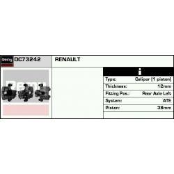 DC73242 DR DC73242 ZACISK HAMULCOWY RENAULT ESPACE IV JK0 TYL LEWY 1.9 DCI / 2.0 / 2.0 TURBO / 2.2 DCI / 3.0 DCI / 3.5 V6 02 SZT REMY ZACISKI HA [852527]...