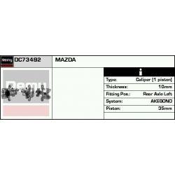 DC73492 DR DC73492 ZACISK HAMULCOWY MAZDA 6 GG / GY TYL LEWY 1.8 / 2.0 / 2.0 DI / 2.3 02 SZT REMY ZACISKI HAMULCOWE REMY [852554]...