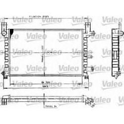 730483 V 730483 CHLODNICA FORD FIESTA 89-96 1.0/1.1/1.3 500X322X34 SZT VALEO CHLODNICE VALEO [852718]...