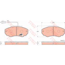 GDB1517 TRW GDB1517 KLOCKI HAMULCOWE CITROEN JUMPER/ FIAT DUCATO/ PEUGEOT BOXER GR.19MM+ CZUJ.* TRW [852746]...