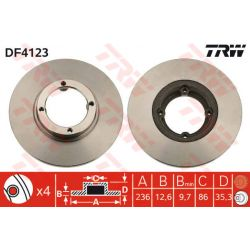 DF4123 TRW DF4123 TARCZA HAMULCOWA DAEWOO MATIZ 98- 236X12.6 P 4-OTW DAEWOO MATIZ 98 SZT TRW TARCZE [854682]...