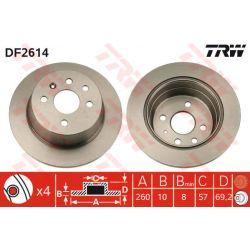 DF2614 TRW DF2614 TARCZA HAMULCOWA 260X10 P 4-OTW OPEL ASTRA F/VECTRA A SZT TRW TARCZE [854757]...