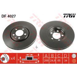 DF4027 TRW DF4027 TARCZA HAMULCOWA 288X25 V 5-OTW AUDI A3/SKODA FABIA/OCTAVIA/VW GOLF IV SZT TRW TARCZE [855053]...