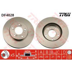 DF4028 TRW DF4028 TARCZA HAMULCOWA 282X23 V 5-OTW HONDA CR-V/HR-V/LEGEND/PRELUDE 95-00 SZT TRW TARCZE [855054]...