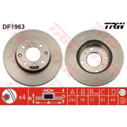 DF1963 TRW DF1963 TARCZA HAMULCOWA 242X19 V 4-OTW HONDA CIVIC/CIVIC CRX 85-96 SZT TRW TARCZE [855114]...