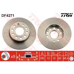 DF4271 TRW DF4271 TARCZA HAMULCOWA 260X12 P 5-OTW AUDI A3/VW JETTA III/TOURAN 03 SZT TRW TARCZE [855726]...