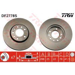DF2778S TRW DF2778S TARCZA HAMULCOWA 288X25 V 4-OTW OPEL VECTRA B/SAAB 9-3/9-5 95 SZT TRW TARCZE [858706]...