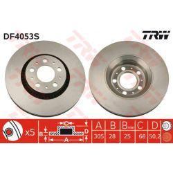 DF4053S TRW DF4053S TARCZA HAMULCOWA 305X28 V 5-OTW VOLVO S60 00 SZT TRW TARCZE [858733]...