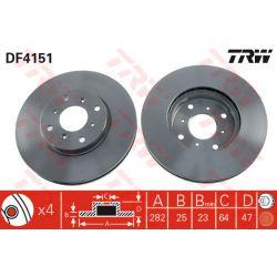 DF4151 TRW DF4151 TARCZA HAMULCOWA 282X25 V 4-OTW HONDA ACCORD 1.8/2.0/2.3 98-02 SZT TRW TARCZE [858773]...
