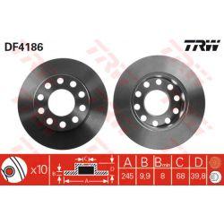 DF4186 TRW DF4186 TARCZA HAMULCOWA 245X10 P 5-OTW H=39 AUDI A4 00 SZT TRW TARCZE [858779]...