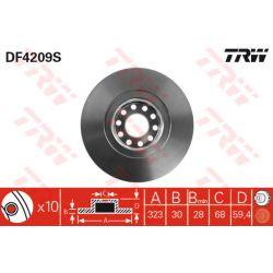 DF4209S TRW DF4209S TARCZA HAMULCOWA 322X30 V 5-OTW AUDI A4/A6/A8 QUATTRO/VW PHAETON 95 SZT TRW TARCZE [858838]...