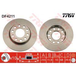 DF4211 TRW DF4211 TARCZA HAMULCOWA 258X12 P 5-OTW AUDI A4/VW PASSAT 00 4-MOTION SZT TRW TARCZE [858839]...