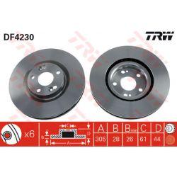 DF4230 TRW DF4230 TARCZA HAMULCOWA 305X28 V 5-OTW RENAULT AVANTIME/ESPACE 99-03 SZT TRW TARCZE [858870]...