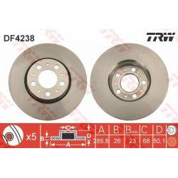 DF4238 TRW DF4238 TARCZA HAMULCOWA 286X26 V 5-OTW VOLVO S60/S80/V70/XC70 97 SZT TRW TARCZE [858872]...