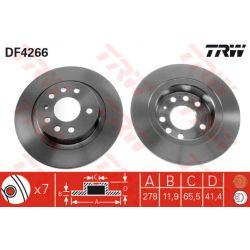 DF4266 TRW DF4266 TARCZA HAMULCOWA 278X12 P 5-OTW OPEL VECTRA C/SIGNUM/SAAB 9-3 02 SZT TRW TARCZE [858924]...