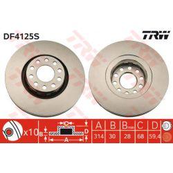DF4125S TRW DF4125S TARCZA HAMULCOWA 314X30 V 5-OTW AUDI 100 QUATTRO/A8 QUATTRO/S6 91-02 SZT TRW TARCZE [861102]...