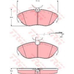 GDB1425 TRW GDB1425 KLOCKI HAMULCOWE CITROEN JUMPER/ FIAT DUCATO/ PEUGEOT BOXER GR.19,5MM+CZUJ.* TRW KPL TRW [867214]...