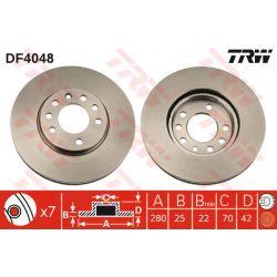 DF4048 TRW DF4048 TARCZA HAMULCOWA 280X25 V OTW-5 OPEL ASTRA G/H/MERIVA/ZAFIRA 98 SZT TRW TARCZE [868948]...