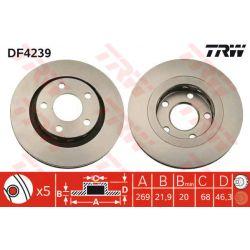 DF4239 TRW DF4239 TARCZA HAMULCOWA 269X22 V 5-OTW AUDI A4/A6A8 QUATTRO 96 SZT TRW TARCZE [869013]...