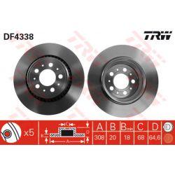 DF4338 TRW DF4338 TARCZA HAMULCOWA 308X20 V 5-OTW VOLVO XC90 2.5/2.9/2.4D 02 TYL SZT TRW TARCZE [873418]...