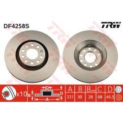 DF4258S TRW DF4258S TARCZA HAMULCOWA 322X30 V 5-OTW AUDI A4/A6/A8 QUATRO/ALLROAD 00 SZT TRW TARCZE [873915]...