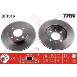 DF1016 TRW DF1016 TARCZA HAMULCOWA 238X20.3 V 4-OTW RENAULT 5/19/21/CLIO/KANGOO/MEGANE SZT TRW TARCZE [875726]...