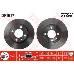 DF1517 TRW DF1517 TARCZA HAMULCOWA 239X20 V 4-OTW AUDI 80/SEAT IBIZA/VW GOLF/PASSAT 72-99 SZT TRW TARCZE [875928]...
