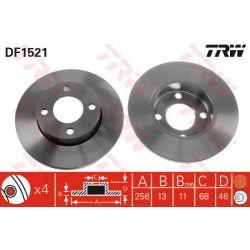 DF1521 TRW DF1521 TARCZA HAMULCOWA 256X13 P 4-OTW AUDI 80/90/100 86-91 SZT TRW TARCZE [876638]...